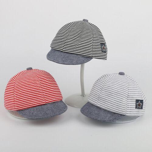 Toddler Boys Girls Baby Kids Summer Hats Star Symbol Striped Cotton Baseball Cap