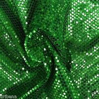 Green Sequins Fabric Green Fabric By The Yard Shiny Fabric Costume Fabric Sewing