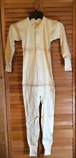 Vintage Union Suit Hanes Heavy Weight Children's Long Johns Sz 28 Hard To Find