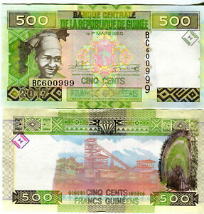 Guinea-Guinea-500-Francs-Franc-Cash-Fresh-2017-UNC-Pick-NEW