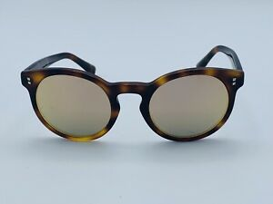 Valentino Round Sunglasses Va4009 50114z 47 Gray Lenses With Gold Mirror Finish Ebay