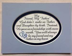 Details about My FATHER IN LAW God Gave MY FRIEND STEPFATHER frm Daughter  verses poem plaques