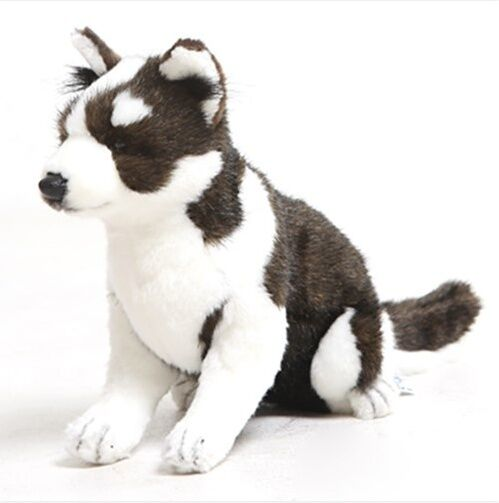 Miss oh Stuffed Plush Soft Toy Dog Husky Pup 2225cm Stofftier realistic 5269