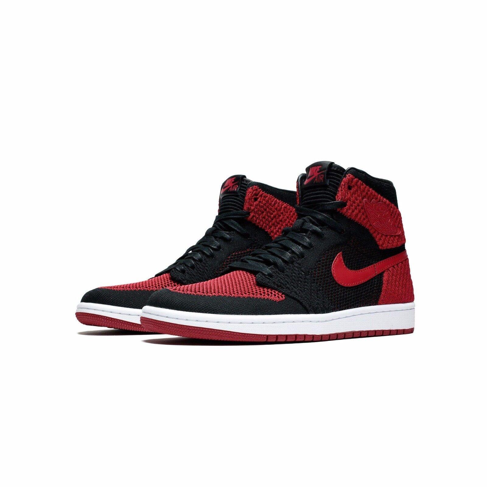 Nike Air Flyknit Jordan 1 retro High Flyknit Air negro rojo 919704-001 criados prohibido 2b1686