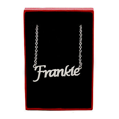 FRANKIE Name Necklace Silver ToneChristmas Jewellery Gifts For Her