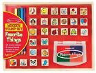 Melissa and Doug 9362 Wooden Favorite Things Stamp Set