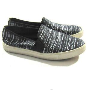 black snakeskin slip on sneakers