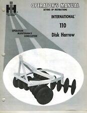 International110 3 Point Hitch Disc Harrow Operators Manual