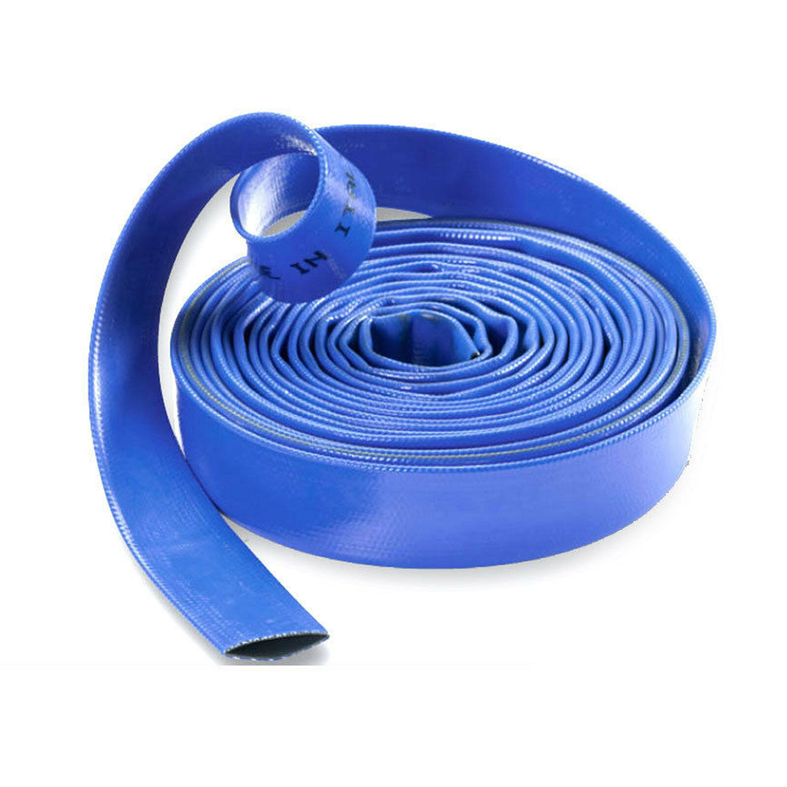 Layflat Hose blå PVC Water Delivery Pipe Discharge Pump Irrigation