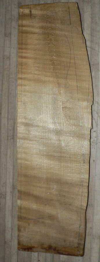 GREAT VERY OLD BALKAN MAPLE PIECE FOR VIOLIN   lila MAKERS, LUTHIER ESTATE