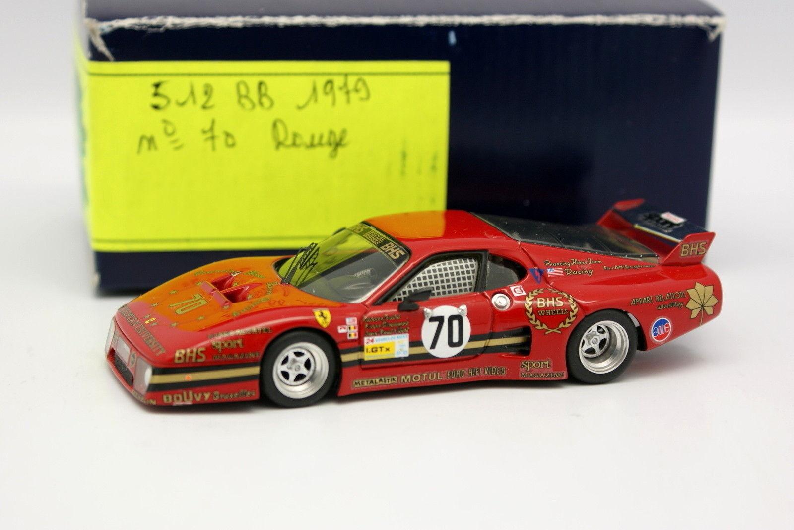 AMR Kit Montado 1 43 - Ferrari 512 BB BHS Le Mans 1979 Nº70