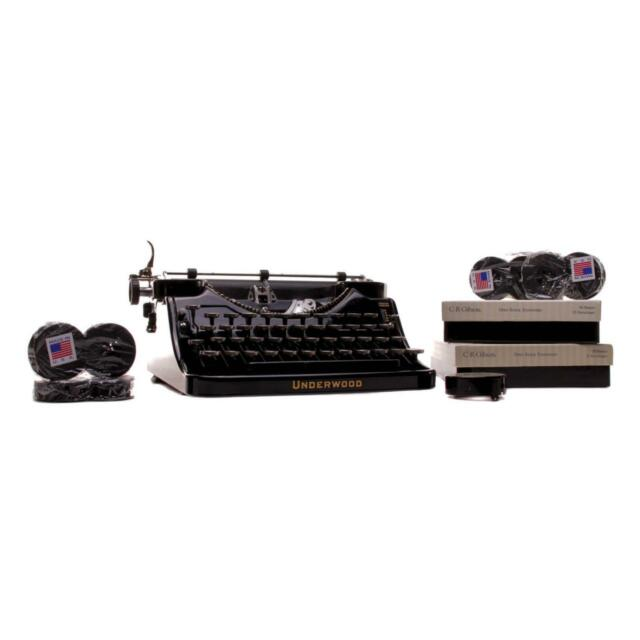 House of Cards Screen Used Underwood Typewriter & Stationary Set Ss Multiple