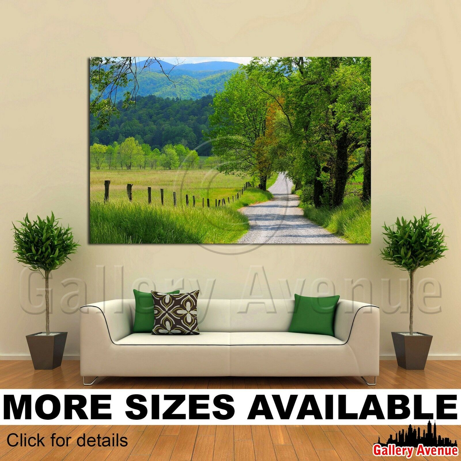Wall Art Canvas Picture Print - Old country road Valley Mountains 3.2