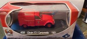 SOLIDO-1-43-REF-4838-CITROEN-2CV-CAMIONNETTE-POMPIERS-1951-NEUF-EN-BOITE