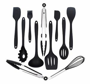 Image Is Loading Silicone Kitchen Utensils Set 11 Piece Cooking Tool