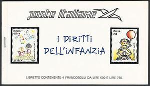 1991-Poste-Italiane-UNICEF-Libretto-i-Diritti-Infanzia-2-Strip-da-4-Francobolli
