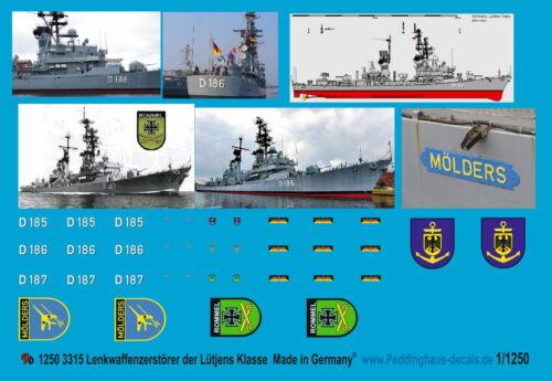 Peddinghaus 1//1250 3315 Lenkwaffenzerstörer der Lütjens Klasse