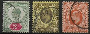 Three-Very-Fine-Used-KEVII-2d-3d-4d-Orange-Very-Good-Condition-Ref-0964