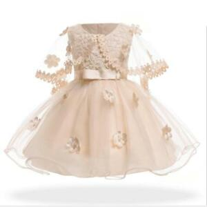 3bf43b7af7d5e Details about 2019 Summer Newborn Baby Girls Dress Toddler Infant Kids 1  Year Birthday party P