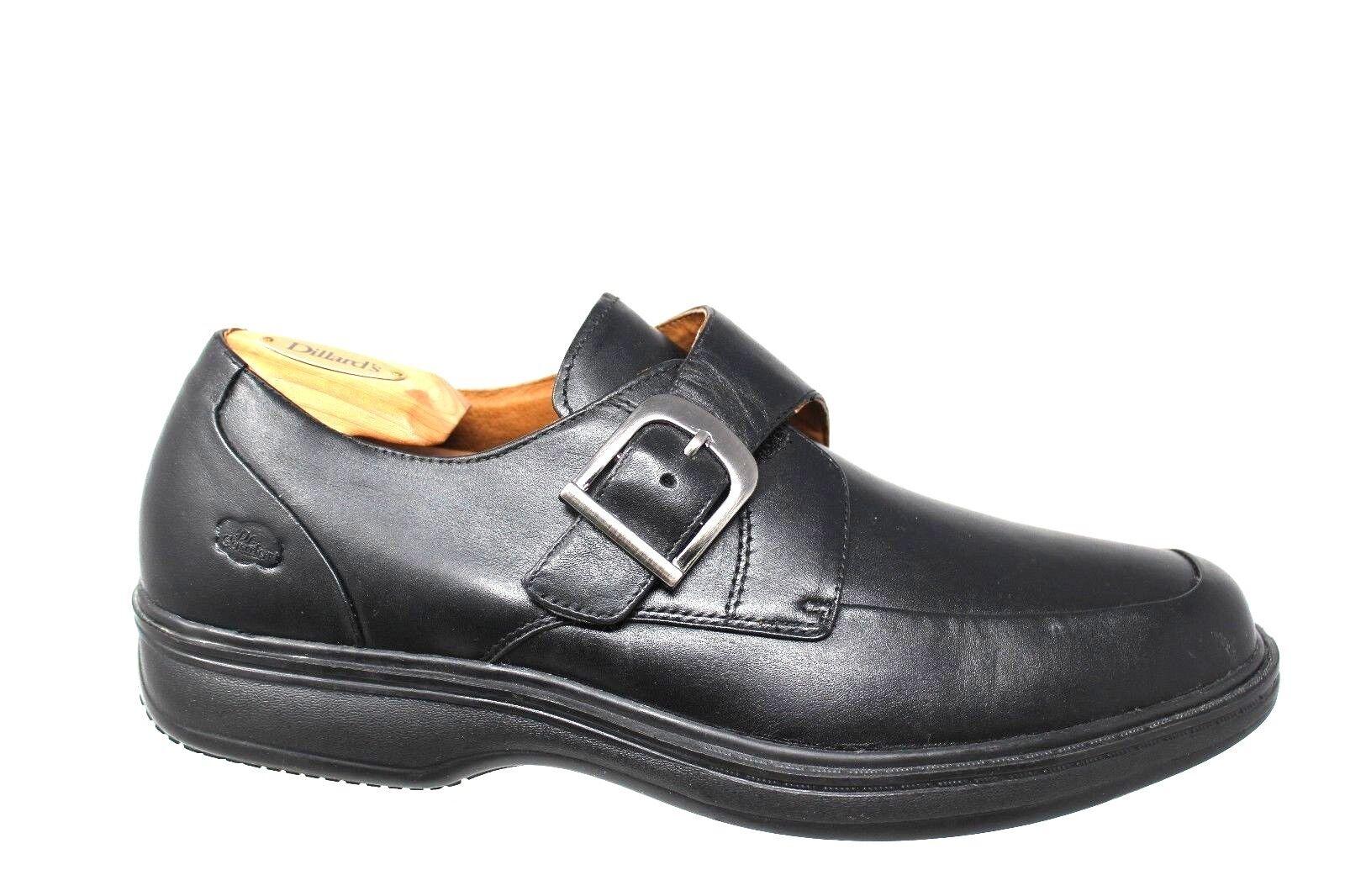 Dr. Comfort 8210 Leader Monk Strap Moc Toe Smooth Leather Loafer Men's US 12W