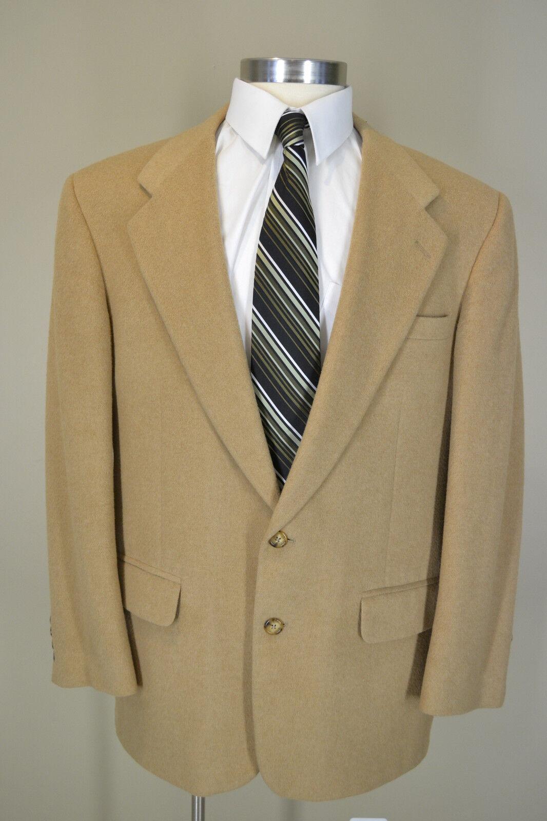 Geoffrey Beene Sharp Awesome Camel Hair Blazer Sport Coat  Größe 42 Regular