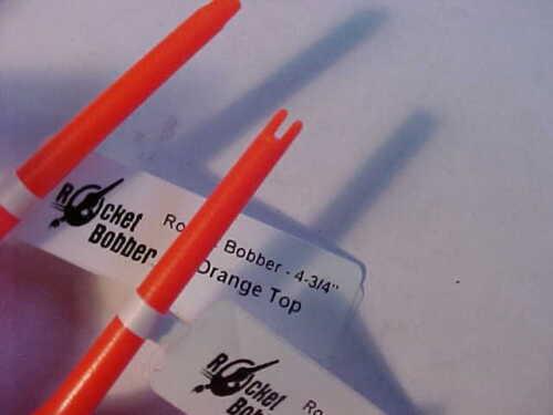 "6 New Tackle 2000 Rocket Bobbers  4 3//4/""  orange  top yellow fishing bobber ice"