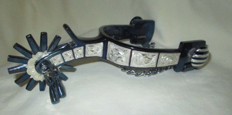 Western Silber sterling Spectacle éperons  SP-2804 Blaui