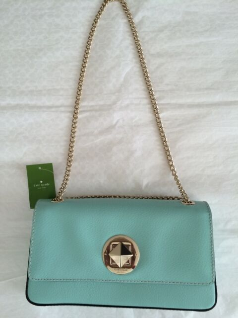 Nwt Kate Spade Chain Spring Angelina Robinsegg Blue Leather Shoulder Bag Purse