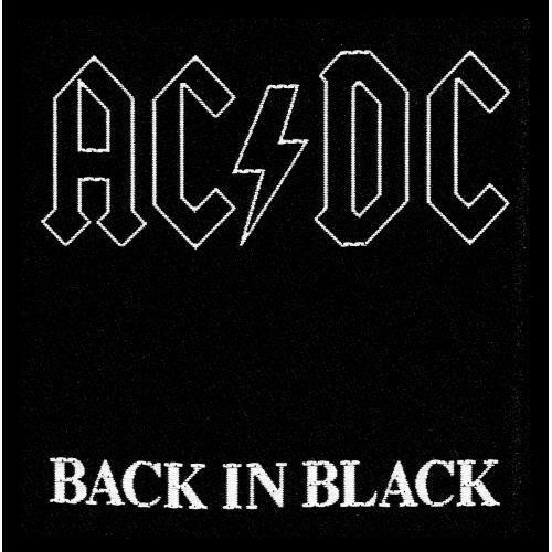 AC-DC Patch Toppa Back In Black OFFICIAL MERCHANDISE
