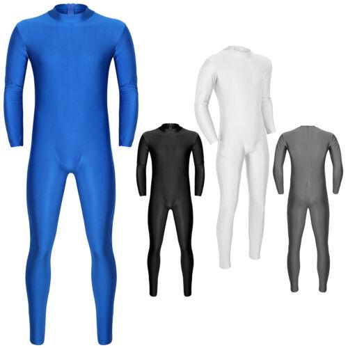Mens Bodysuit Wrestling Singlet Jumpsuit Underwear Leotard Fitness Tight Unitard