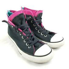 f4ba3d2ad3c8 Converse All Star Hi Top Boys Girls Kids Youth Sneakers Shoes Size 3 Zipper  Heel