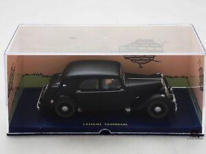 Miniature-BD-En-voiture-Tintin-L-039-affaire-Tournesol-CITROEN-Traction-Avant-noire