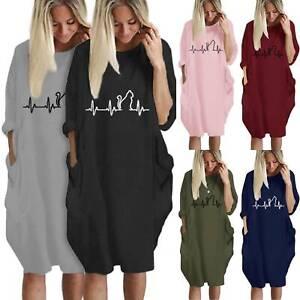 Women-Baggy-Casual-Shirt-Dress-Long-Roll-Sleeve-Winter-Fall-Tunic-Oversized-Tops