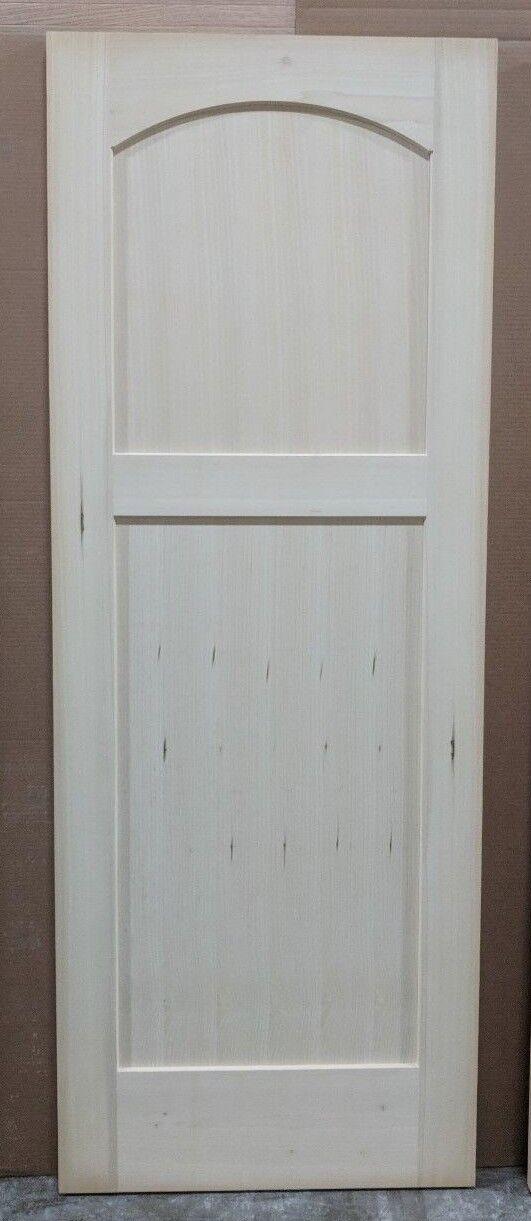 Yellow Poplar - Curved Arch 30  x 80  x 1-3 8  Interior Door - slab or prehung