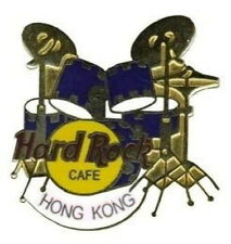Hard Rock Cafe HONG KONG 1997 Navy Blue & Gold DRUM KIT PIN DRUMS - HRC #3035