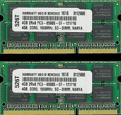 Samsung 4GB 8GB PC3-8500 DDR3 1066MHz Memory for Apple MacBook Pro iMac Mini