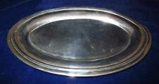 """Louis XIV Sun King Radiant Face Maker Mark, Pewter Oval Tray, 11 3/4"""" by 7 1/2"""""""