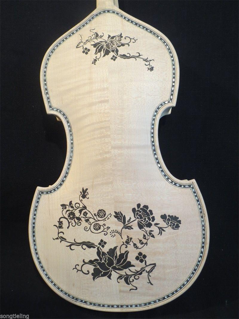 Estilo Barroco canción sin rematar rematar rematar Dibujo Incrustación Shell 4 Cuerdas Violín 4 4  11208  saludable