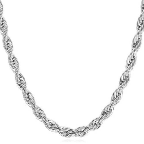 Men Women Stainless Steel Titanium steel Twisted Shape Chain Necklace H