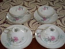 Vintage Sone CASHMIR ROSE 4 Cups & 4 Saucers