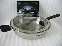 Tupperware Tupperchef Inspire 10 In Fryer W/glass Cover Waterless Cooking