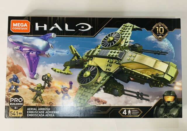 Halo Aerial Ambush Pro Builders Mega Construx GGF83, 541 pieces 10th Anniversary