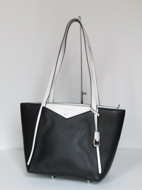 michael kors whitney black leather small shoulder tote bag 248 00 rh ebay com