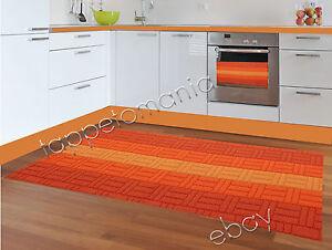Tappeto cucina passatoia arancione antiscivolo sconti e promozioni