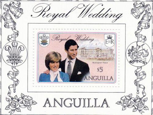 ANGUILLA 1981 ROYAL WEDDING $5 MINIATURE SHEET MNH