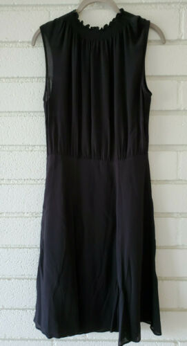 Black Arket Viscose Dress - UK 10, EUR 36