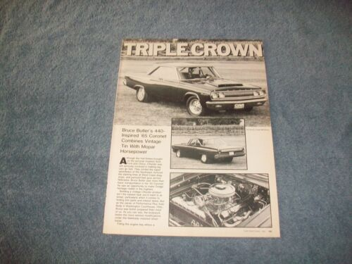 "1965 Dodge Coronet Vintage Pro Street Article ""Triple Crown"""