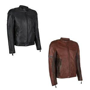 Parts & Accessories Discreet Leather Motorbike Motorcycle Jacket Short Biker Brown Distressed Ce Armoured Buy Now