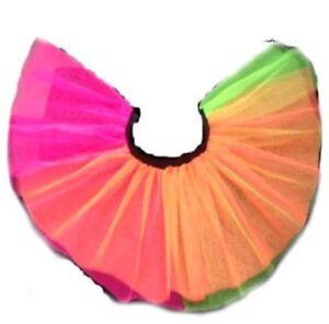 High Quality Ladies Girls Neon Orange Tutu Skirt Fancy Skirts Dress Up Hen Part