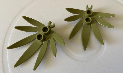 2 x LEGO SPARES PARTS 10884 Finger//Sword Leaf Olive Green D